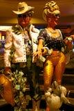 Couplez la statue de l'hôtel et du casino du ` s Las Vegas de Harrah Photo stock