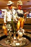 Couplez la statue de l'hôtel et du casino du ` s Las Vegas de Harrah Images libres de droits