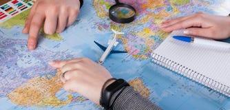 Couplez le voyage de planification au Canada, point sur la carte Images stock