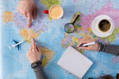 Couplez le voyage de planification aux Etats-Unis, point sur la carte Photo libre de droits