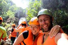 Couplez prennent un selfie rapide après avoir fini un grand rappel Photo libre de droits