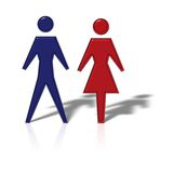 Coupling. Male and female figure Stock Photography