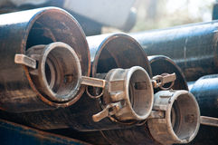 Couplings and drill casings Royalty Free Stock Photos