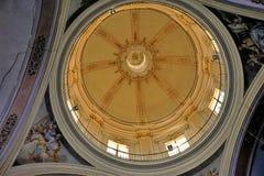 Coupole d'or de la cathédrale de Valence photographie stock