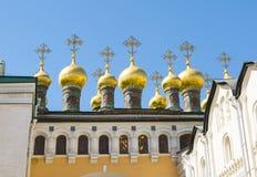 Coupole supérieure de dôme de cathédrale de Saviour's Verkhospassky à Moscou Kremlin, Russie images stock