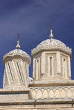 Coupoles et dômes de cathédrale d'Arges, Roumanie Photographie stock libre de droits