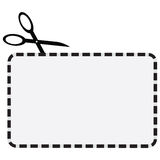 Coupon. Illustration of a coupon with a dotted line for cutting Royalty Free Stock Photography
