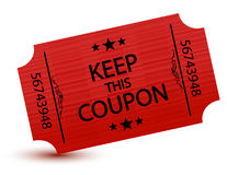 Coupon Stock Image