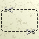 Coupon border. Illustration coupon border with scissors as a background Stock Image