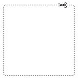 Coupon Border. Vector illustration of coupon clipping outline vector illustration