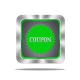 Coupon button. Royalty Free Stock Photography