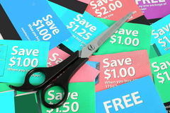 Coupon clipping Royalty Free Stock Images
