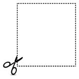 Coupon Clipping Outline. Vector illustration of coupon clipping outline royalty free illustration