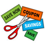 Coupon Cutter Stock Image