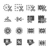 Coupon and discount icon set, vector eps10.  Royalty Free Stock Photo
