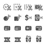Coupon and discount icon set 4, vector eps10 Royalty Free Stock Image