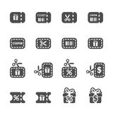 Coupon and discount icon set 3, vector eps10 Stock Photography