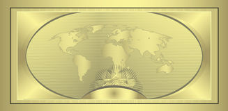 Coupon Gold. World globe template Stock Images
