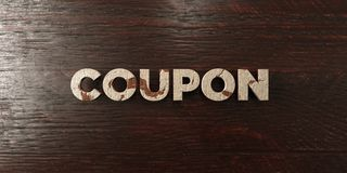 Coupon - grungy wooden headline on Maple  - 3D rendered royalty free stock image Royalty Free Stock Photo