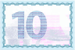 Coupon guilloche template and currency backgrounds Royalty Free Stock Images