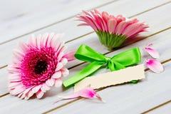 Coupon met bloemen royalty-vrije stock fotografie