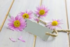 Coupon met bloemen stock foto