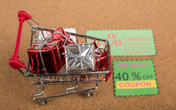 Coupon. Paper voucher for exchange and save your money concept Stock Images
