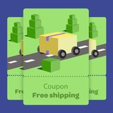 Coupon promotion with vector illustration flat design vector illustration