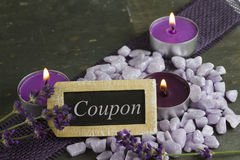 Coupon. For relaxing and beauty therapy Royalty Free Stock Photography