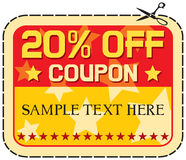 Coupon sale 20% Stock Image