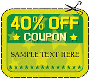 Coupon sale - 40% Royalty Free Stock Images
