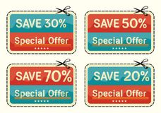 Coupon sale collection Royalty Free Stock Photo
