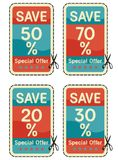 Coupon sale collection Stock Images