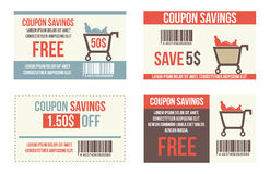 Coupon sale. Offers and promotions vector template Royalty Free Stock Images