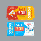 Coupon Sale. Vector royalty free illustration