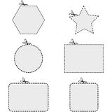 Coupon shapes vector illustration