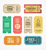 Coupon and Tickets Set. Vector Stock Photography