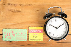 Coupon. Voucher for exchange and save your money concept Royalty Free Stock Images