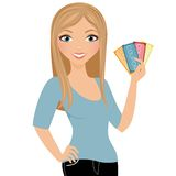 Coupon Woman Royalty Free Stock Photography