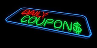 Daily Coupons Royalty Free Stock Images