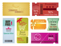 Coupons and Gift Card Design Royalty Free Stock Image