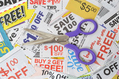Coupons Pile Stock Image