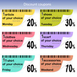 Daily coupons for sale Stock Images