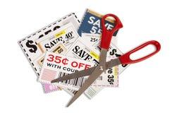 Coupons With Scissors XXXL Stock Photography