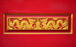 A coupple golden dragon Stock Images