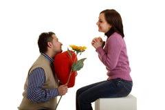Coupple in liefde Stock Foto's