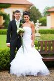 Coupple novo apenas casado Imagens de Stock