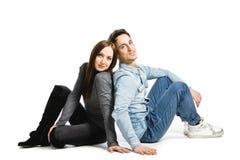 Coupple sur le blanc Photo libre de droits