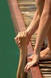 Coups de main à lever Image stock