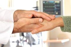 Coups de main dans l'hôpital Photographie stock